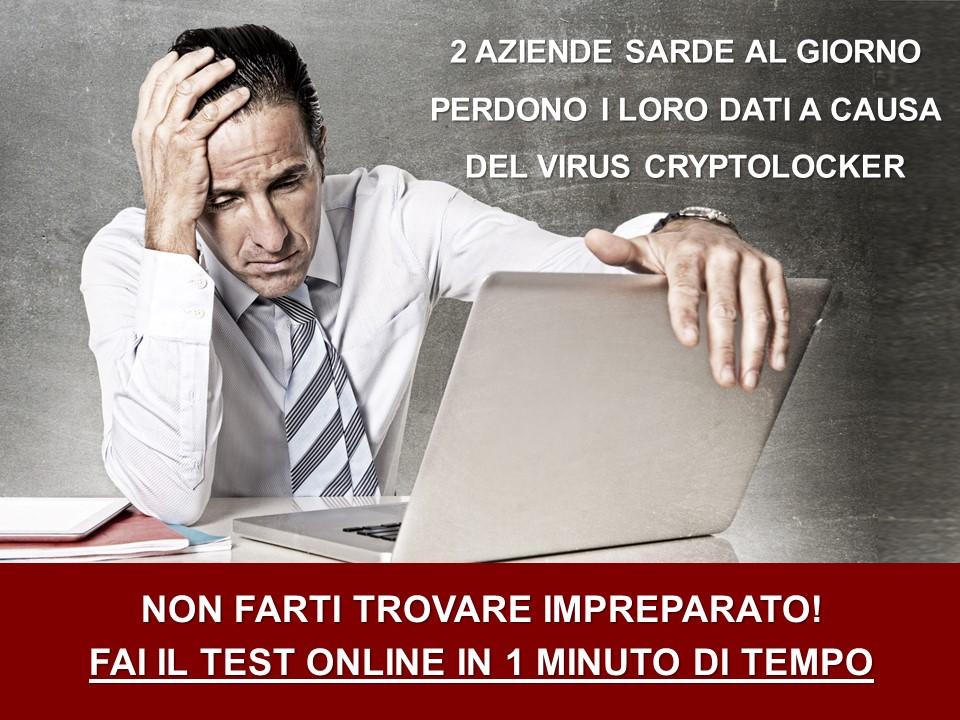 Test online per misurare il rischio di infezione del virus Cryptolocker