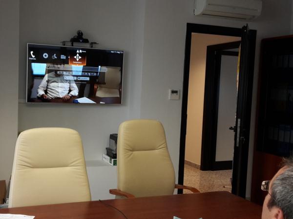 Videoconferenza per sala riunioni dirigenziale - Abbanoa Spa